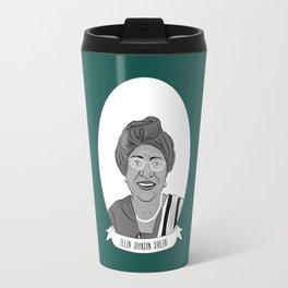 Ellen Johnson Sirleaf Illustrated Portrait Travel Mug