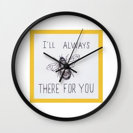 Bee There Wall Clock