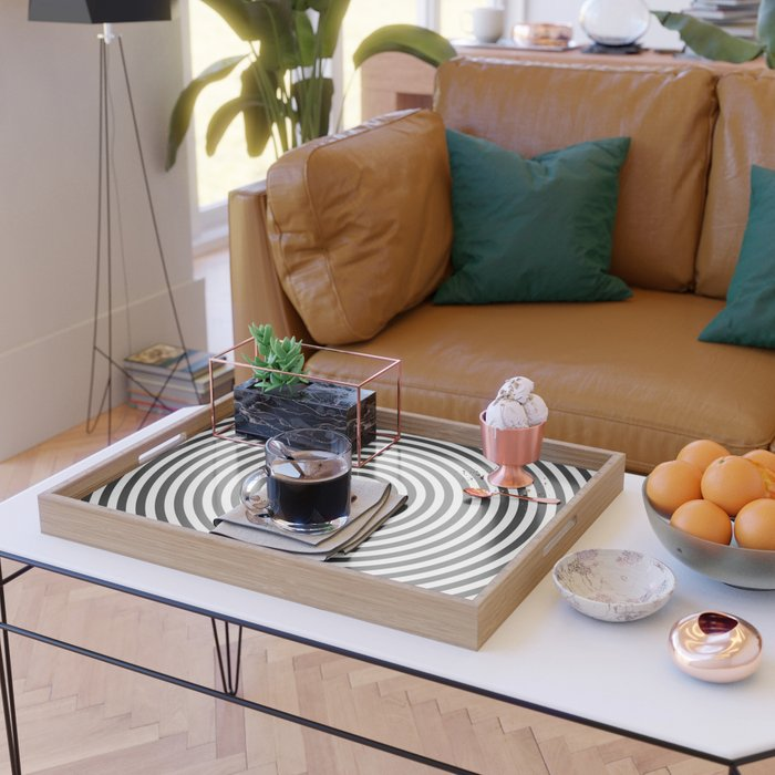 Concentric circles Serving Tray