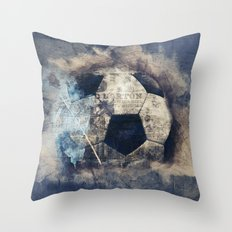 Abstract Grunge Soccer Throw Pillow