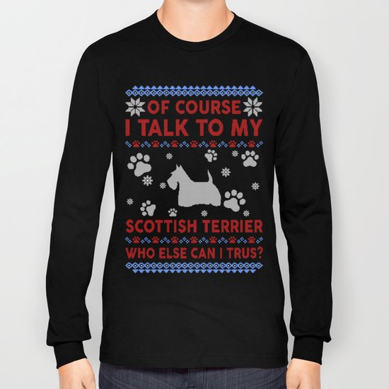 Boston Terrier Christmas Sweater.Scottish Terrier Ugly Christmas Sweater Long Sleeve T Shirt By Tuandaaio