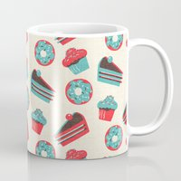 happy birthday Mugs featuring happy birthday  by marella