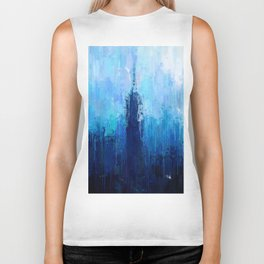 Empire State Building - New York City - Cityscape Wall Art, Poster, Impressionism Paintings, Prints Biker Tank