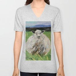 Big fat woolly sheep Unisex V-Neck