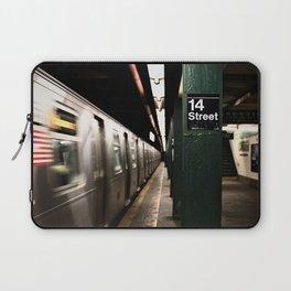 Speeding Subway Train Laptop Sleeve
