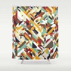Native Geometric Shower Curtain