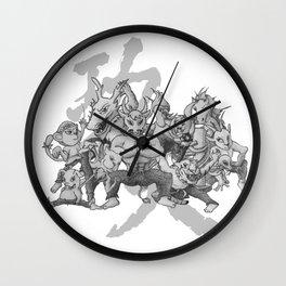 KungFu Zodiac Wall Clock