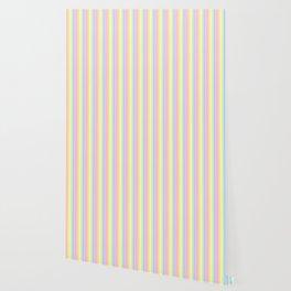 pastel candy stripe Wallpaper