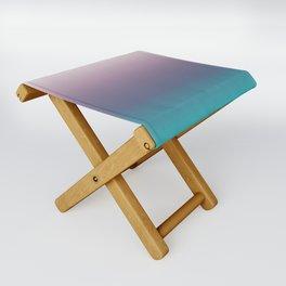 Ombré, Purple, Blue, Green, Pink, Teal, Color Blend Folding Stool