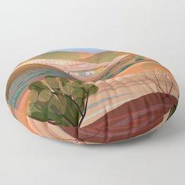 Copper Town (Square) Floor Pillow