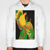 rooster Hoodies featuring Rooster by Saundra Myles