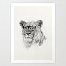 Wild Hipster Art Print