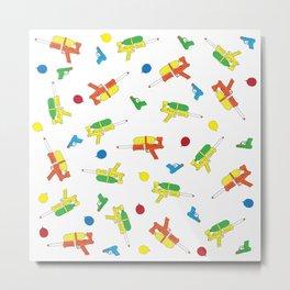 Waterguns & Water Balloons Pattern Metal Print