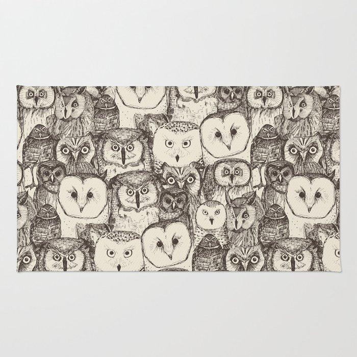 just owls natural Rug