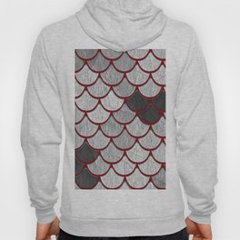 Drain Scales with Red Outlines Hoody