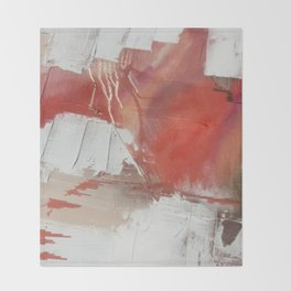 California Sun: a minimal, abstract piece in reds and gold by Alyssa Hamilton Art Throw Blanket
