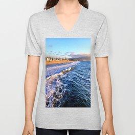 """Hermosa Beach """"On the Pier 2"""" Unisex V-Neck"""