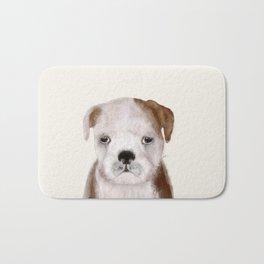 little bulldog Bath Mat