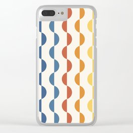 Gwynne Pattern - Vintage 70's Clear iPhone Case