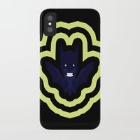bat man iPhone & iPod Cases featuring bat by Nir P