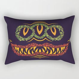Psychedelic Ornamental Mask Rectangular Pillow