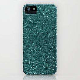 Deep Aqua BlueTurquoise Glitter iPhone Case