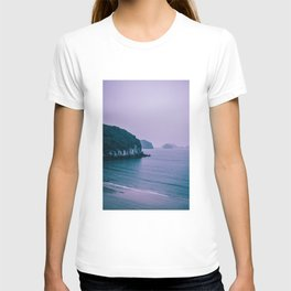 Cliffs fading into Sea Mist. Nature Photography. T-shirt