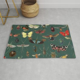 Lovely Butterfly Green Rug