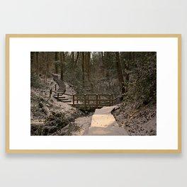 Snowy Ironbridge Gorge Framed Art Print