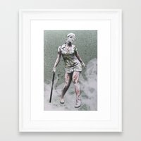 silent hill Framed Art Prints featuring SILENT HILL ZOMBIE NURSE by PRINT ROYALE