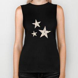Pink Stars on Cream {Paper Moon Collection} Biker Tank