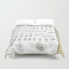 Stages of the Honey Bee Duvet Cover