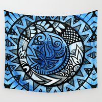 ice Wall Tapestries featuring Ice by Wealie
