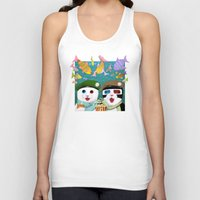 3d Tank Tops featuring 3D by Tummeow