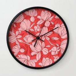 Pretty Pink Pattern Wall Clock