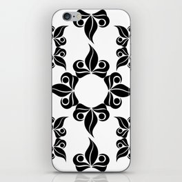 Decorative Black and White Pattern iPhone Skin