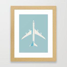 747-8 Jumbo Jet Airliner Aircraft - Sky Framed Art Print