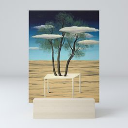 The Oasis, 1925 surreal oasis in the desert landscape painting by Rene Magritte Mini Art Print