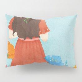 Beautiful Flower Girl Pillow Sham