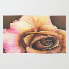 Earth Tone Rose Rug