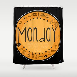 Monday Vibes Shower Curtain