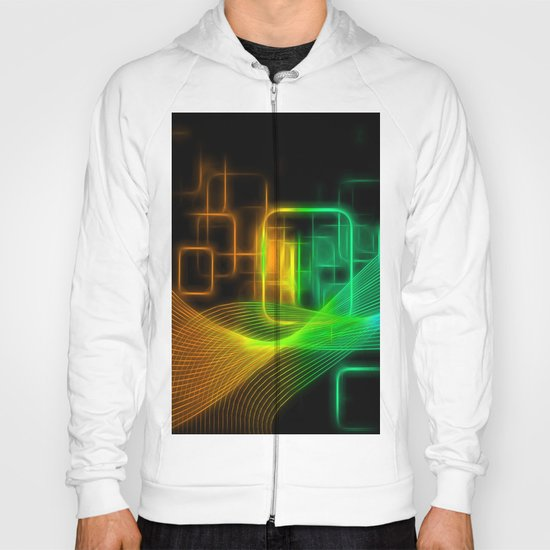 Abstract glowing lines Hoody
