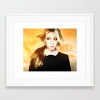 2ne1 Framed Art Prints featuring Ciel 2ne1 kpop fanart by LC_Korim