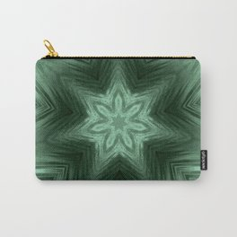 Green Star Flower Blossom Metallic Color #Pattern #Background Carry-All Pouch