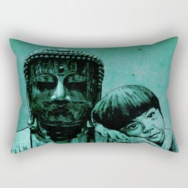 BUDDHA GIRL - SILENCE - quote Rectangular Pillow