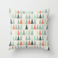triangles Throw Pillows featuring Triangles by Dizzy Moments