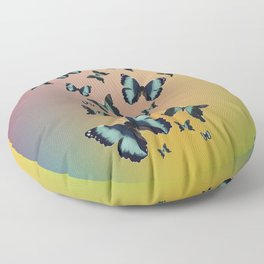 Cluster of Butterflies - Fly Away Home - 57 Montgomery Ave Floor Pillow