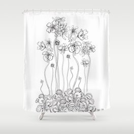 Floral Flytraps Shower Curtain