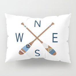 Oar Compass Pillow Sham