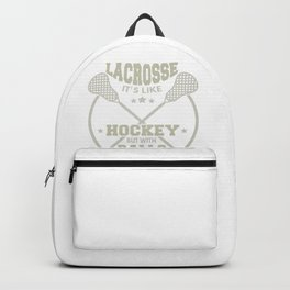 Lacrosse Like Hockey with Balls LAX Sport Lacrosse Player G.O.A.T Lacrosse Game ReLAX Steeze Gray Backpack